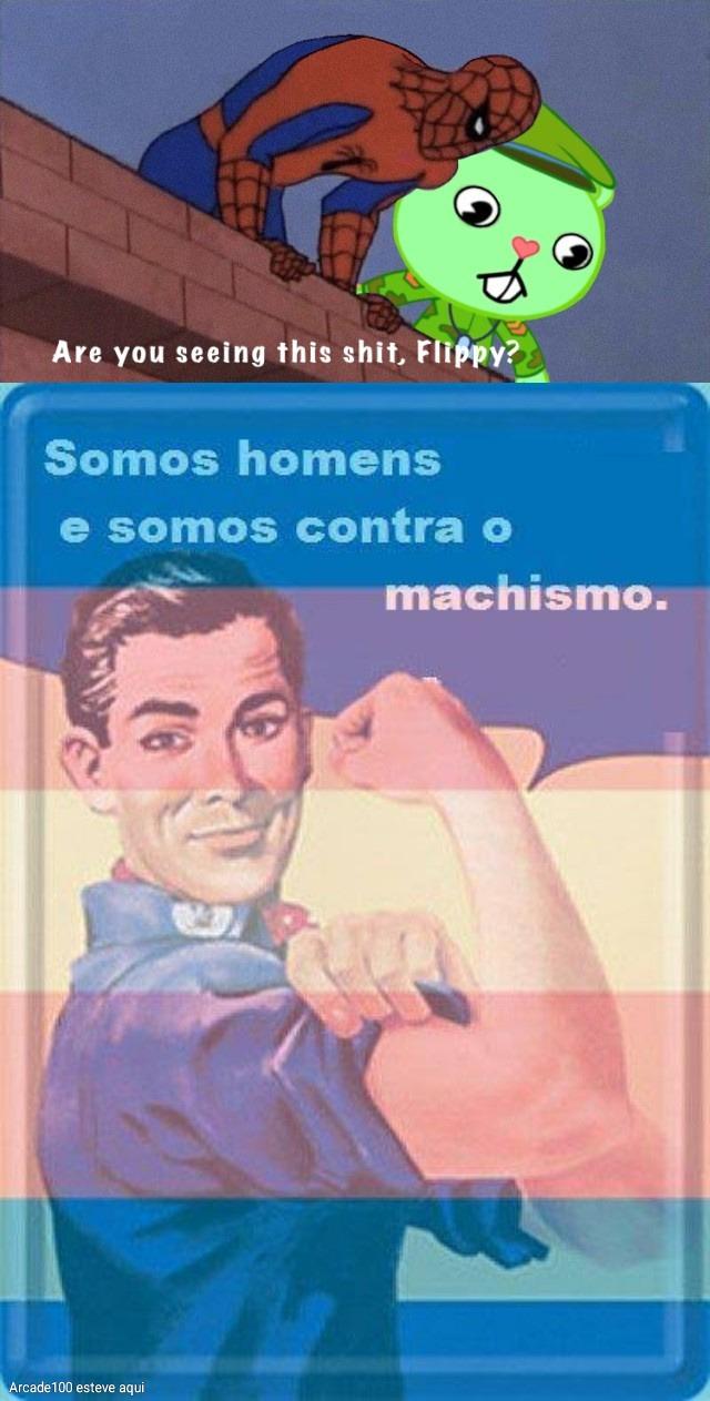 Homens contra o machismo - meme