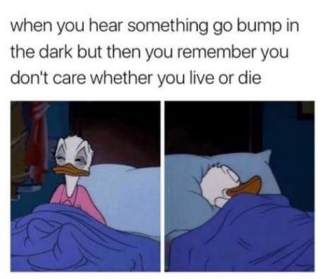 Guess I'll die. - meme