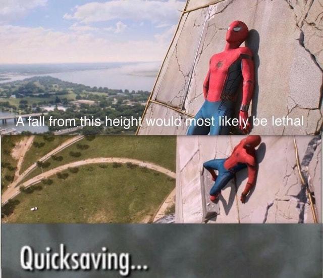 Spiderman: quicksaving - meme