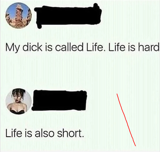Life is hard and short - meme