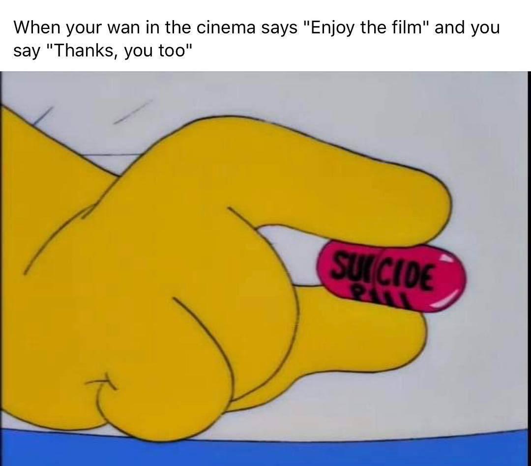 I want to die - meme