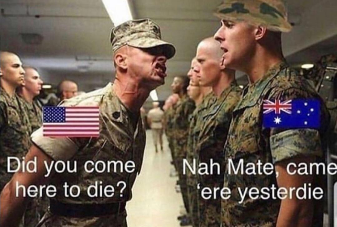 Australians be like - meme