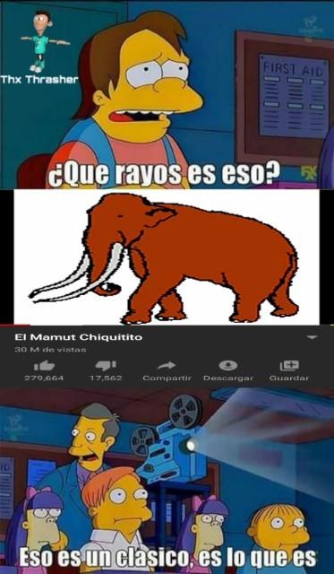 El mamut chiquitito - meme