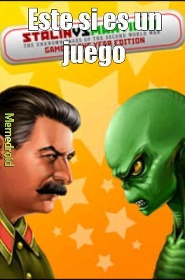 Stalin vs martians - meme