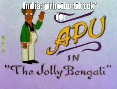 Apu en el alegre bengali - meme