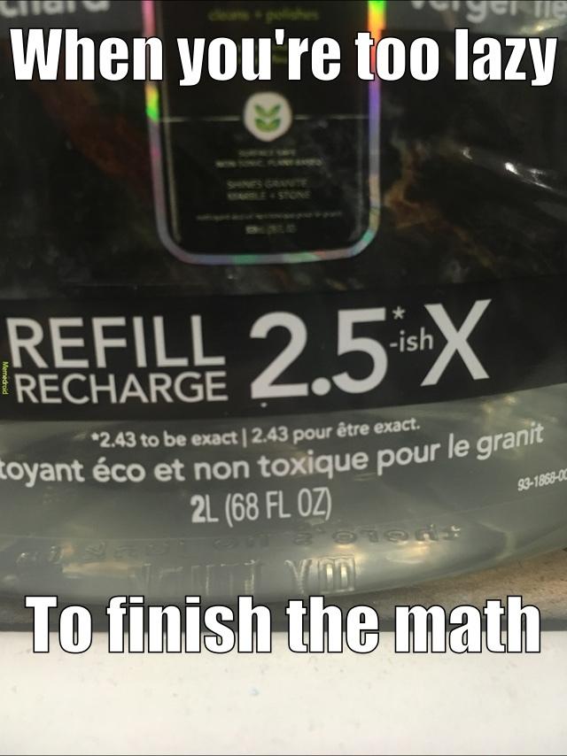 Lazy mathematicians - meme