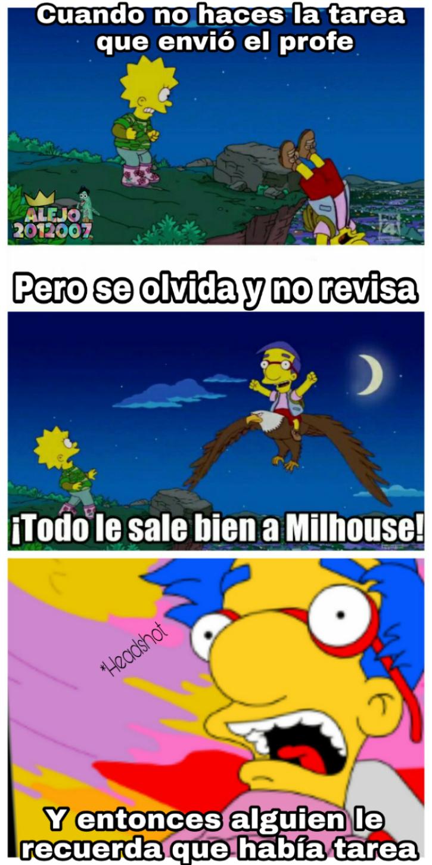 Milhouse headshot jaja - meme