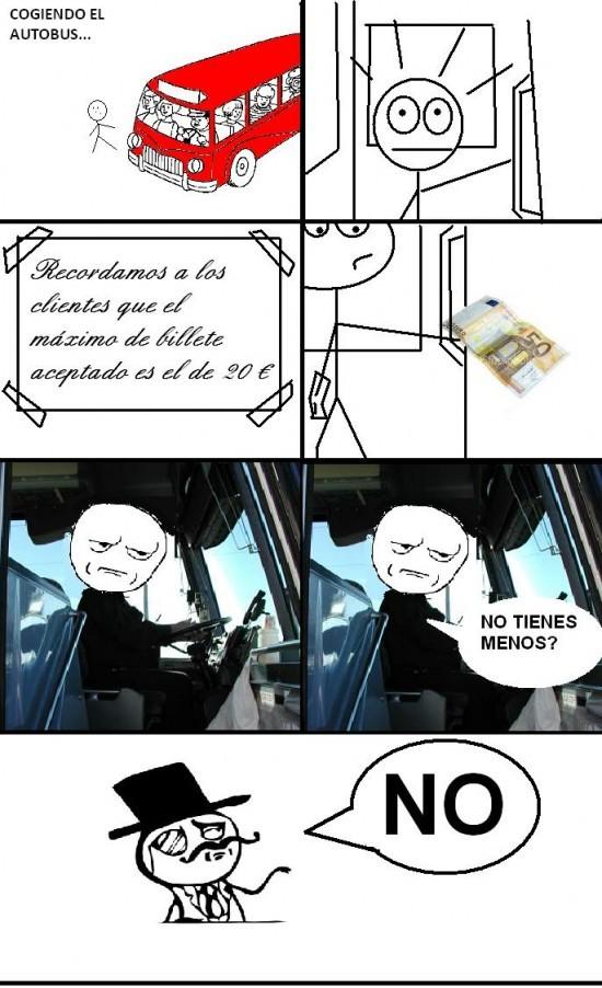 Maldito transporte publico - meme