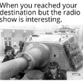 I mostly listen to shows about science while driving