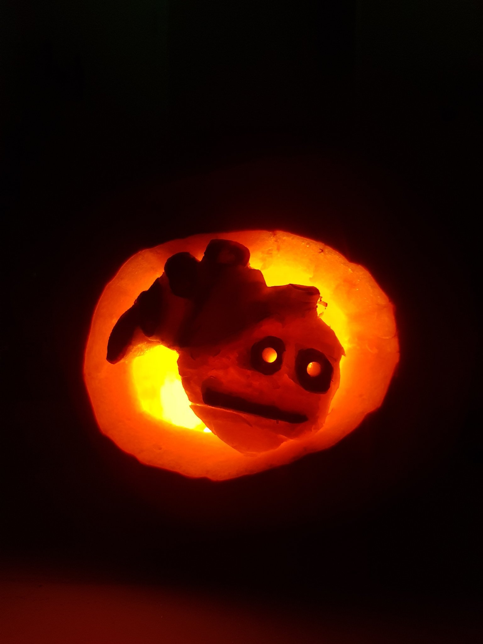 Spooky vibe check pumpkin carving i did happy spooky day - meme