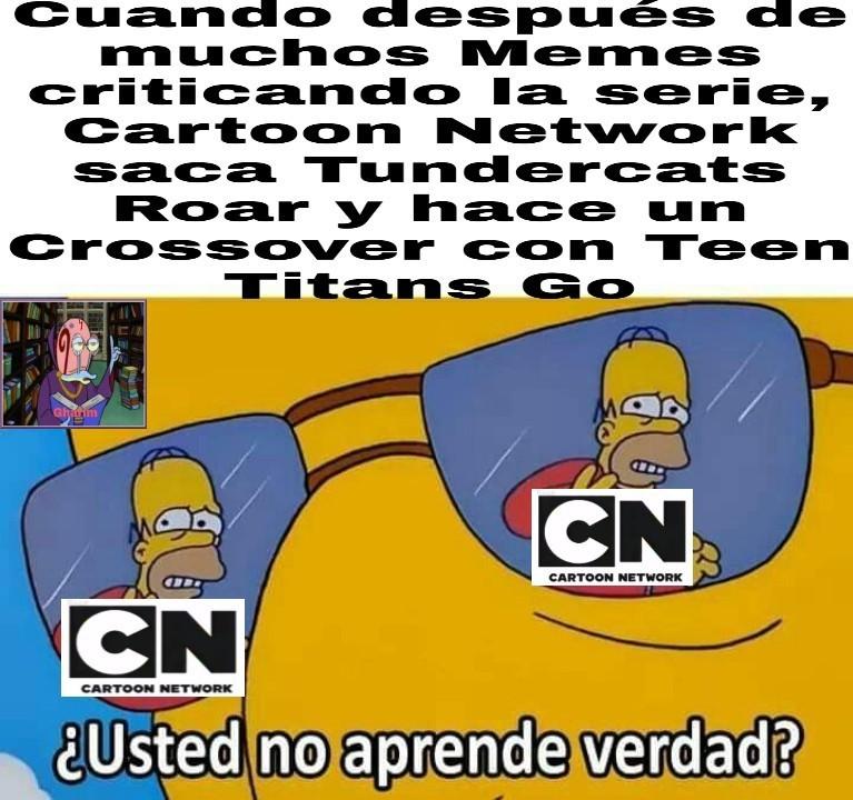 Cartoon Network no aprende - meme