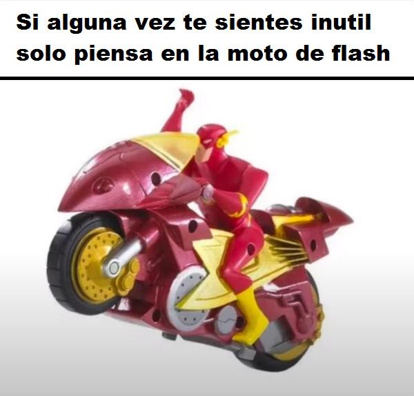 quien necesita correr a la velocidad de la luz cuando puedes montar una moto de 100km por hora? - meme
