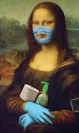 Mona Lisa 2020 MÁSCARA RECTANGULAR PARA SORDOS - meme