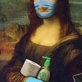 Mona Lisa 2020 MÁSCARA RECTANGULAR PARA SORDOS