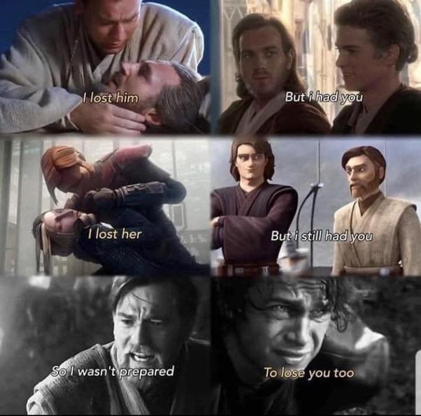 Obi-wan and Anakin - meme