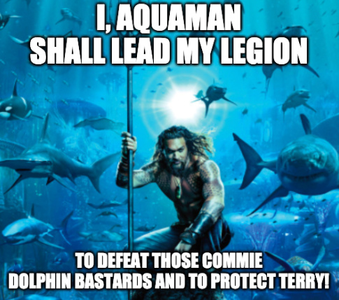 guys aquaman is on our side - meme