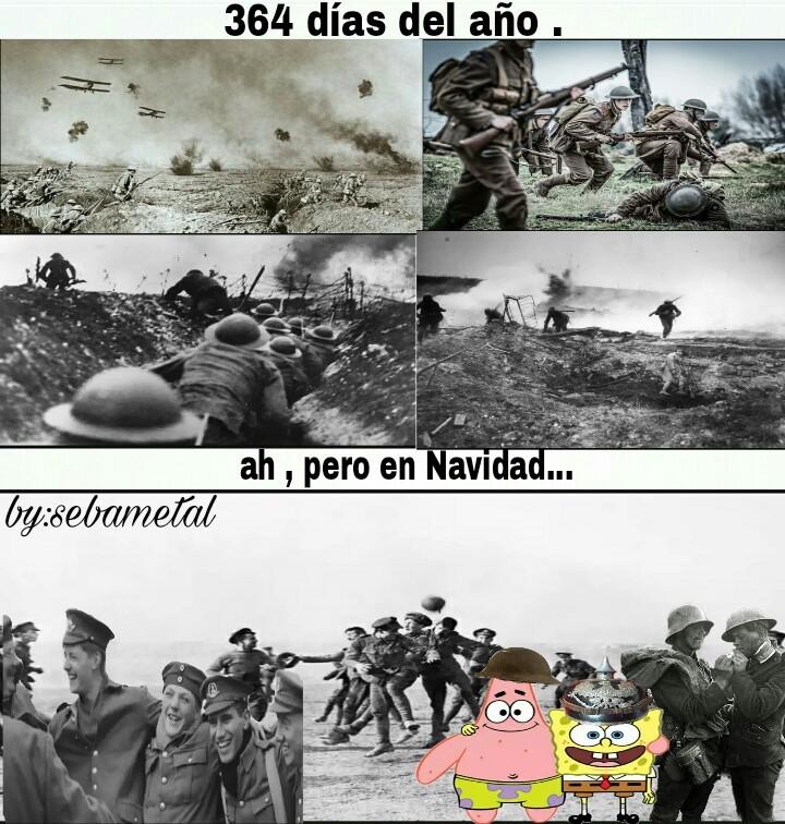 Que guerra mas bonita - meme
