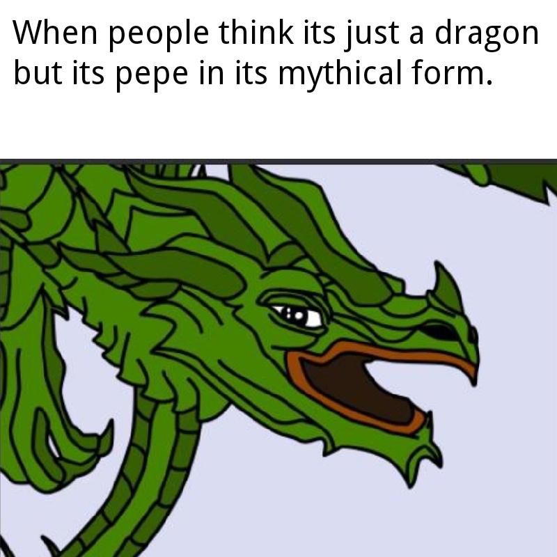 Dragon pepe - meme
