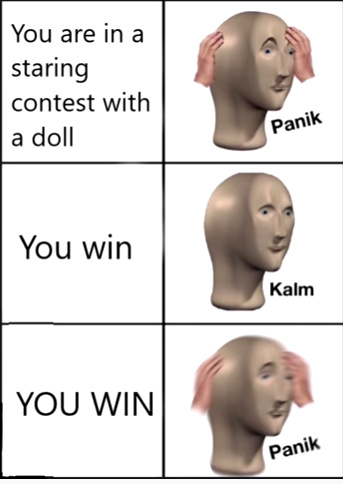 staring contest - meme