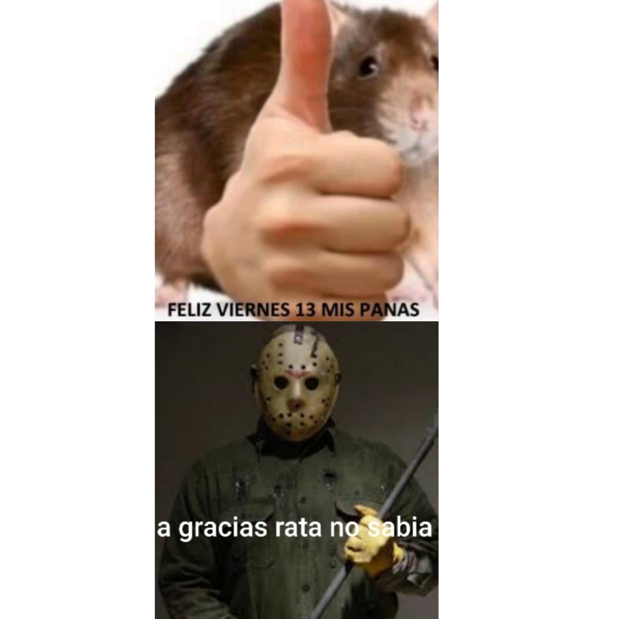 Créditos a molerosegundo2008 por la rata diciendo feliz viernes 13 - meme