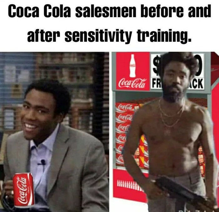 Coke employees be like - meme