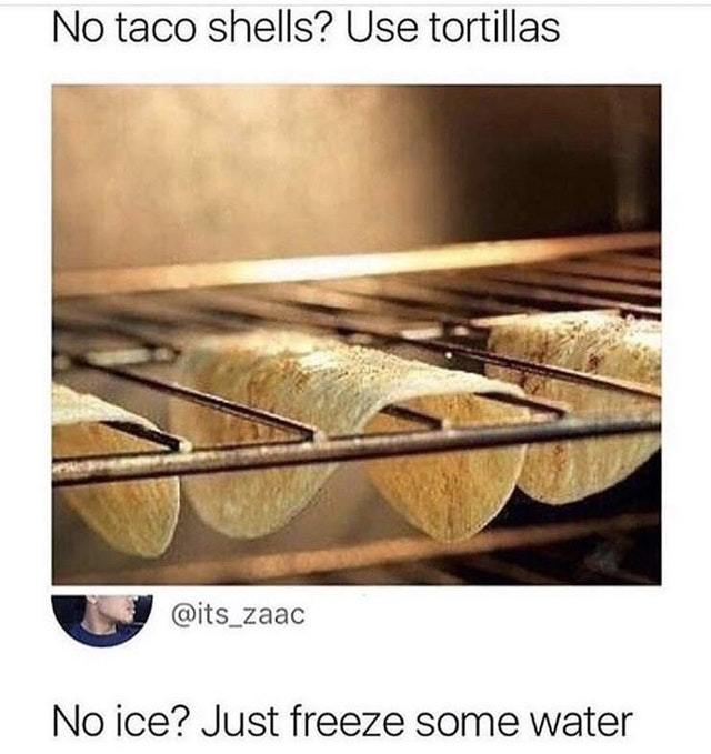 No ice? Just freeze some water! - meme