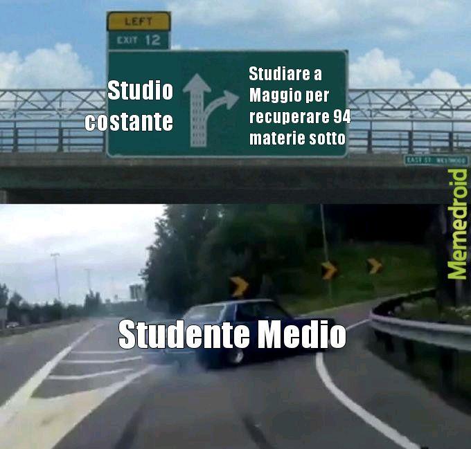 La situazione di ogni studente - meme