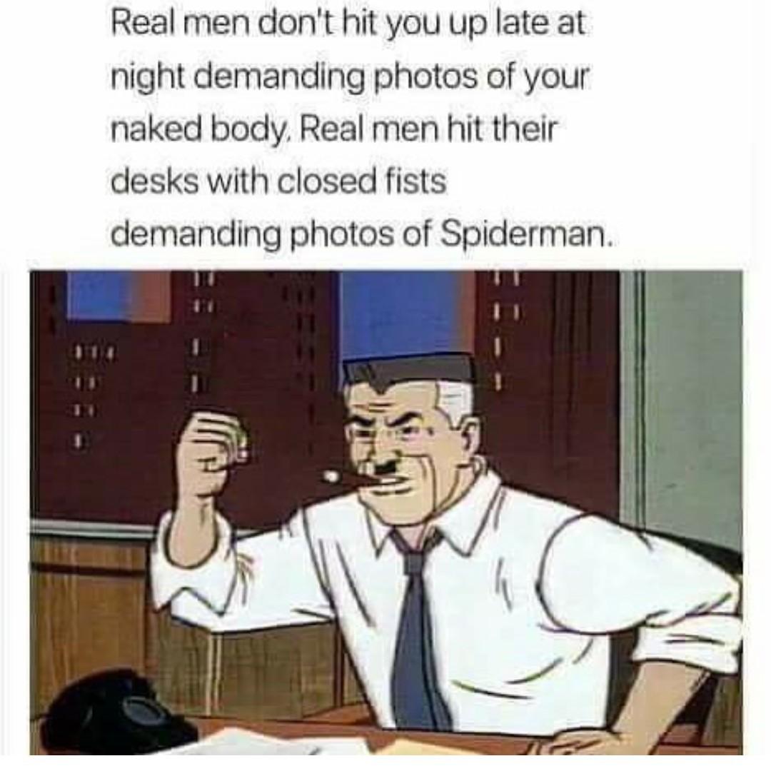 Be a real man - meme