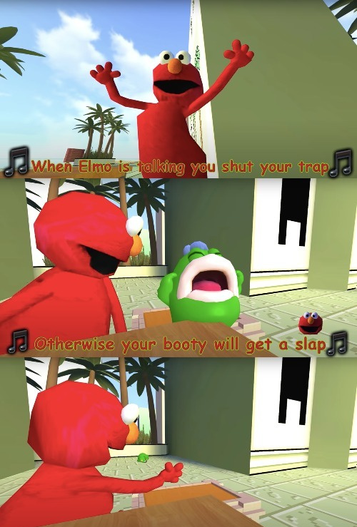 when elmo is talking - meme