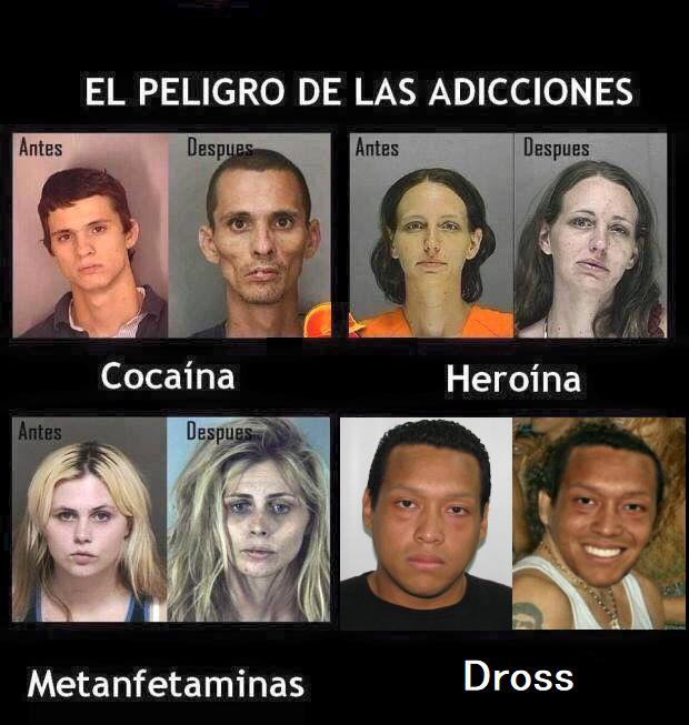 El peligro de las adicciones - meme