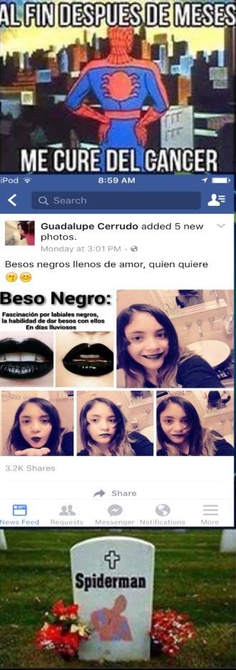 beso negro :v - meme