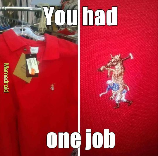 you had one job - meme