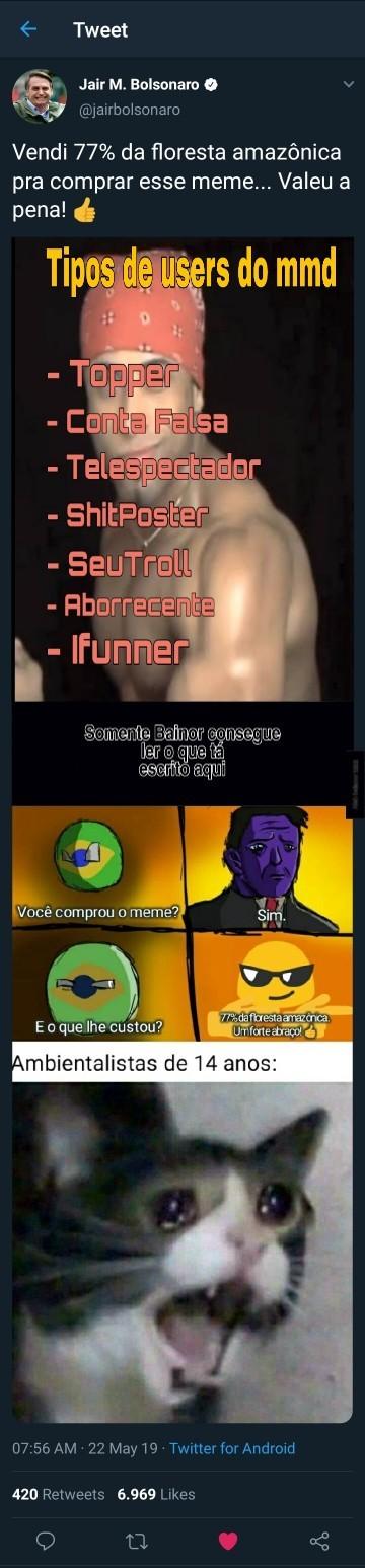 Não leia a tag - meme
