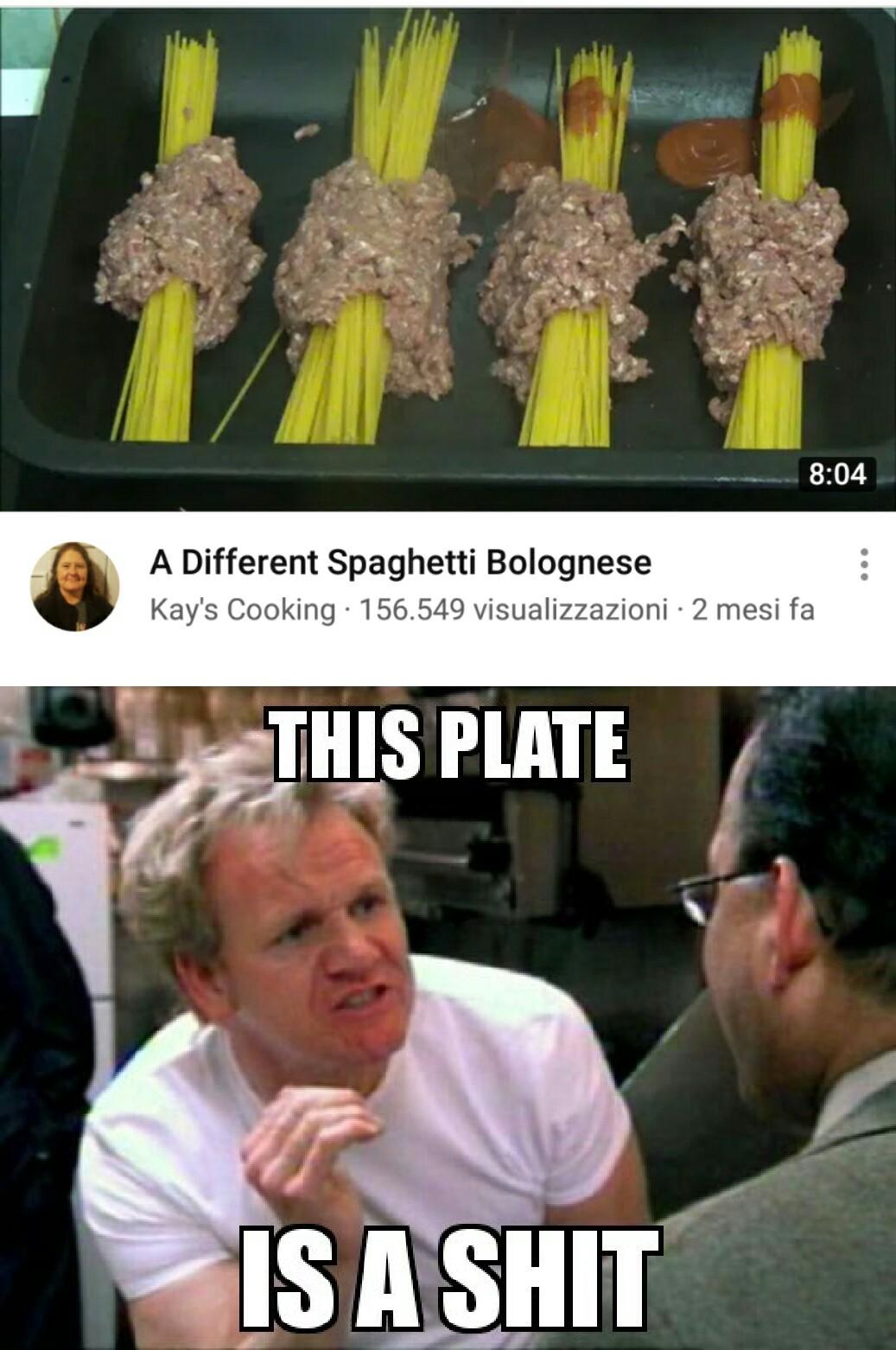 A different spaghetti bolognese... - meme