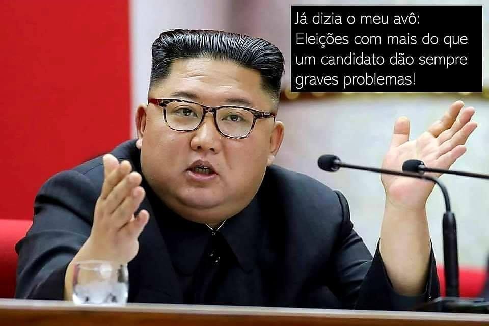 Não existe nada como a democracia nortecoreana - meme
