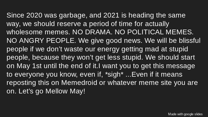 Support Mellow May - meme