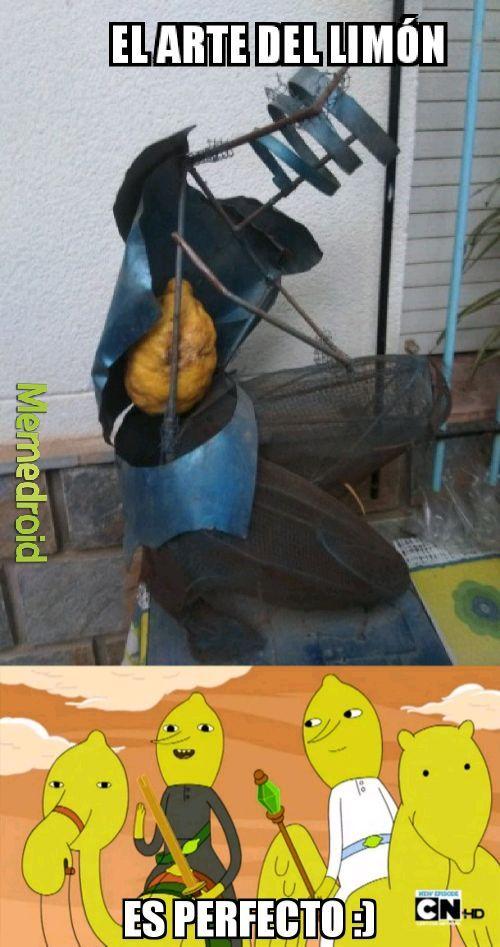 Limoncio y su arte - meme