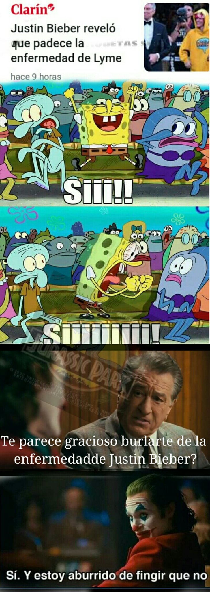 Sigue abajo - meme