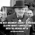 Argument against democracy - Winston Churchill