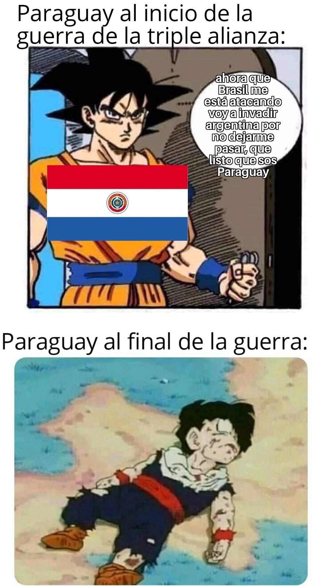 El primero que diga Paraguay no existe lo lo golpeó con un bate - meme