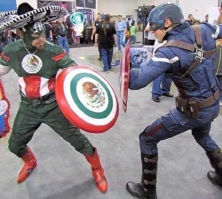 Capitão América vs Capitão mexicano - meme
