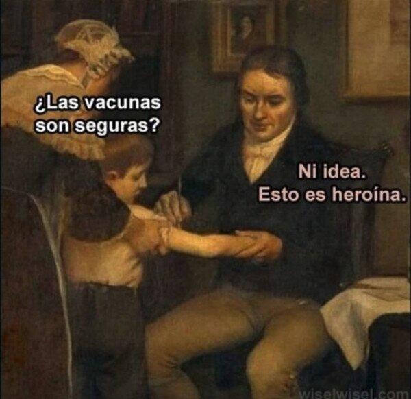 La vacuna del año - meme
