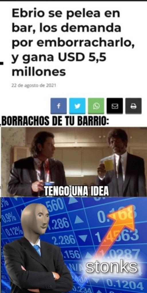 Millonario por ebrio - meme