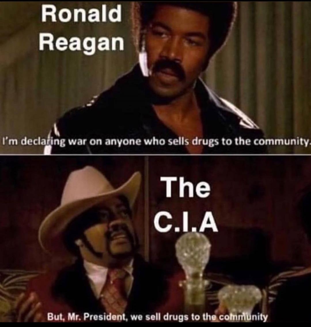 Government sells drugs - meme