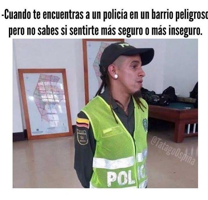 El oficial Brayan Yandel - meme