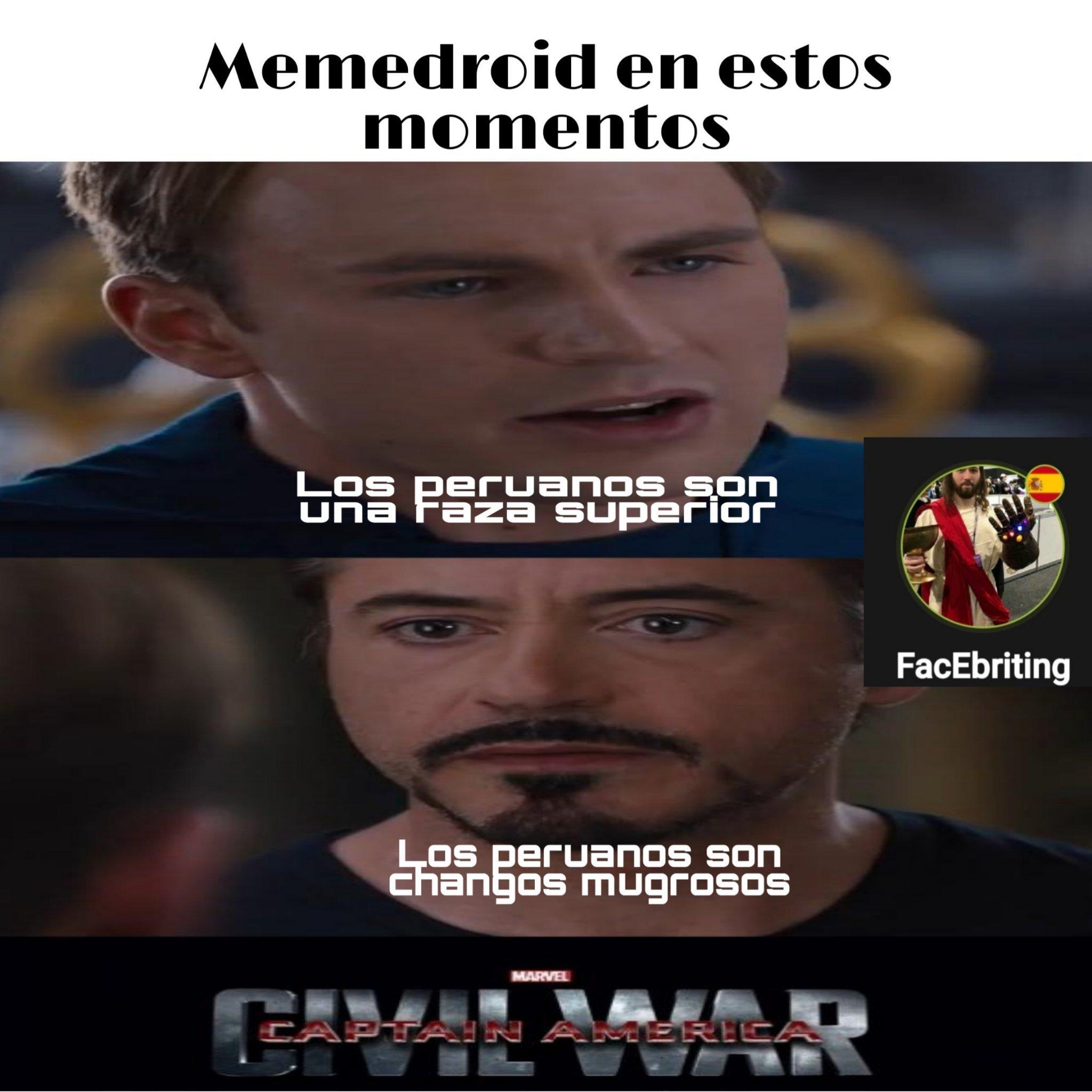 Peruanos son una raza superior - meme