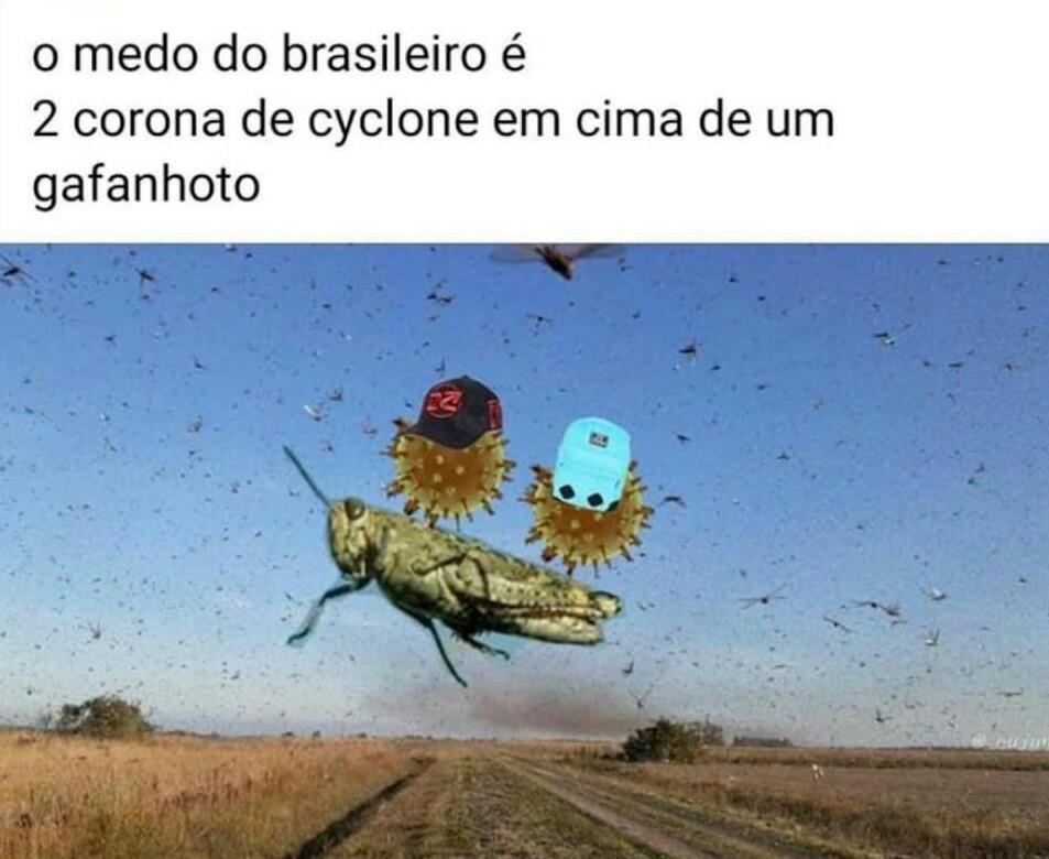 Além do Ciclone Bomba - meme