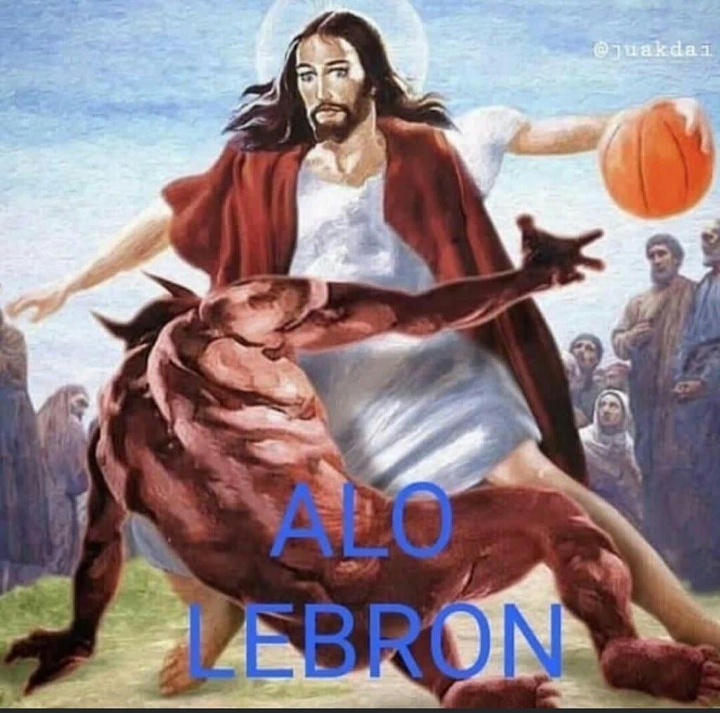 Alo Lebron - meme