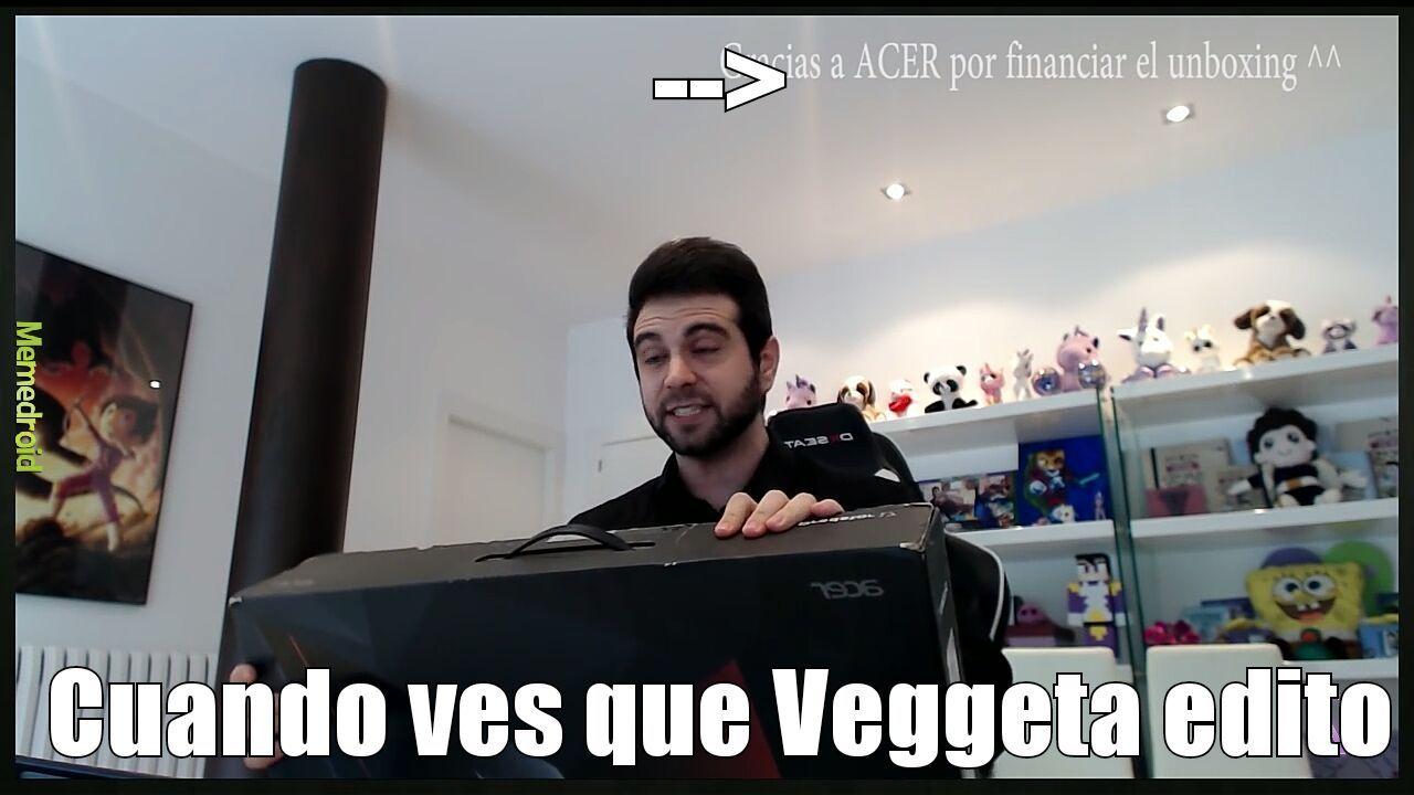 Veggeta editando - meme