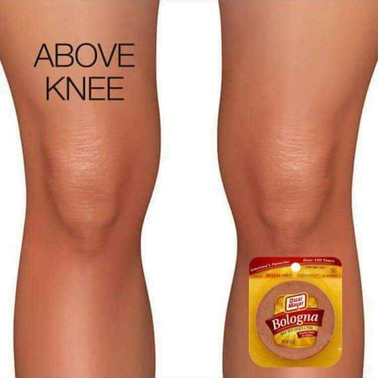 Tasty knees - meme